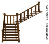 illustration of a staircase on... | Shutterstock . vector #125034593