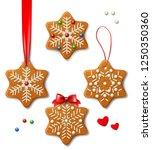 set of vector christmas... | Shutterstock .eps vector #1250350360