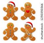 set of vector christmas... | Shutterstock .eps vector #1250350366