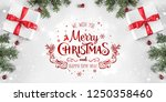 merry christmas typographical... | Shutterstock . vector #1250358460