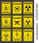 set of signs the radiation ... | Shutterstock .eps vector #1250359183