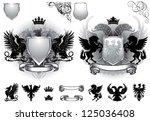 shield gray heraldry | Shutterstock .eps vector #125036408