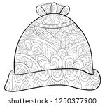 a christmas cap with ornaments... | Shutterstock .eps vector #1250377900