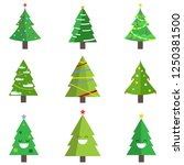 set of christmas tree with...   Shutterstock .eps vector #1250381500