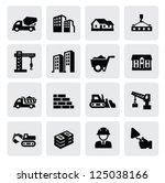 vector black construction icons ... | Shutterstock .eps vector #125038166