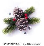 christmas element on white... | Shutterstock . vector #1250382130