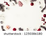 christmas decorations over... | Shutterstock . vector #1250386180