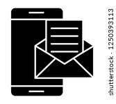 smartphone email solid icon....