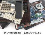 obsolete laptops isolated on... | Shutterstock . vector #1250394169