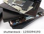obsolete laptops isolated on... | Shutterstock . vector #1250394193