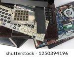 obsolete laptops isolated on... | Shutterstock . vector #1250394196