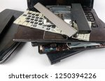obsolete laptops isolated on... | Shutterstock . vector #1250394226