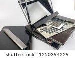 obsolete laptops isolated on... | Shutterstock . vector #1250394229