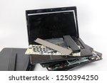 obsolete laptops isolated on... | Shutterstock . vector #1250394250