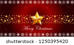 red christmas background with... | Shutterstock .eps vector #1250395420