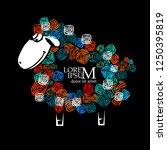 abstract cute lamb. vector | Shutterstock .eps vector #1250395819