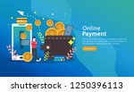 mobile payment or money... | Shutterstock .eps vector #1250396113