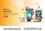 mobile payment or money... | Shutterstock .eps vector #1250396116