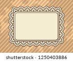 vintage floral ornamental blank ... | Shutterstock .eps vector #1250403886
