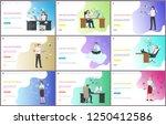 online business  people working ... | Shutterstock .eps vector #1250412586