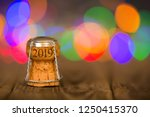 happy new year 2019 cork on the ... | Shutterstock . vector #1250415370