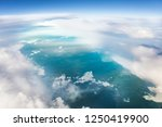 aerial view of clouds and earth ... | Shutterstock . vector #1250419900