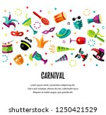 vector illustration with... | Shutterstock .eps vector #1250421529
