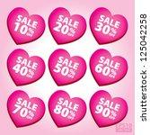 big sale valentine heart... | Shutterstock .eps vector #125042258