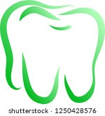 natural line drawing of tooth | Shutterstock .eps vector #1250428576