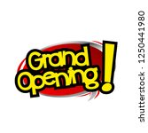 grand opening label with red... | Shutterstock .eps vector #1250441980