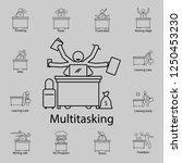 multitasking worker icon....   Shutterstock .eps vector #1250453230