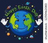 happy earth day space concept... | Shutterstock .eps vector #1250462083