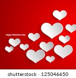 design template   eps10 heart... | Shutterstock .eps vector #125046650
