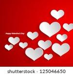 design template   eps10 heart... | Shutterstock .eps vector #125046650