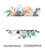 floral wedding invitation.... | Shutterstock .eps vector #1250469943