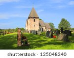 country church in hammarland ... | Shutterstock . vector #125048240