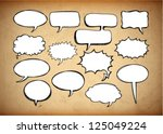 retro speech bubbles on the... | Shutterstock .eps vector #125049224