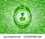 graduated icon inside realistic ... | Shutterstock .eps vector #1250496136