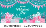 valentine's day greeting card.... | Shutterstock .eps vector #1250499916