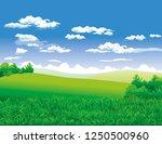 meadow landscape illustration | Shutterstock .eps vector #1250500960
