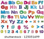 illustration of alphabets and... | Shutterstock . vector #125051699
