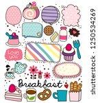 breakfast balloon vector | Shutterstock .eps vector #1250534269
