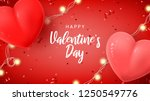 happy valentine's day holiday... | Shutterstock .eps vector #1250549776