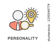 icon personality....   Shutterstock .eps vector #1250549779