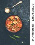 matar paneer curry recipe made... | Shutterstock . vector #1250565679
