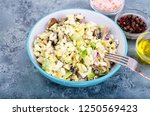 healthy and dietary food. salad ... | Shutterstock . vector #1250569423