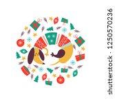 cute dog breed dachshund in a...   Shutterstock .eps vector #1250570236