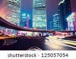 night scene of modern city | Shutterstock . vector #125057054