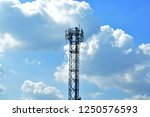 silhouette of cellular antennas ... | Shutterstock . vector #1250576593