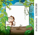 Illustration Of A Monkey And...